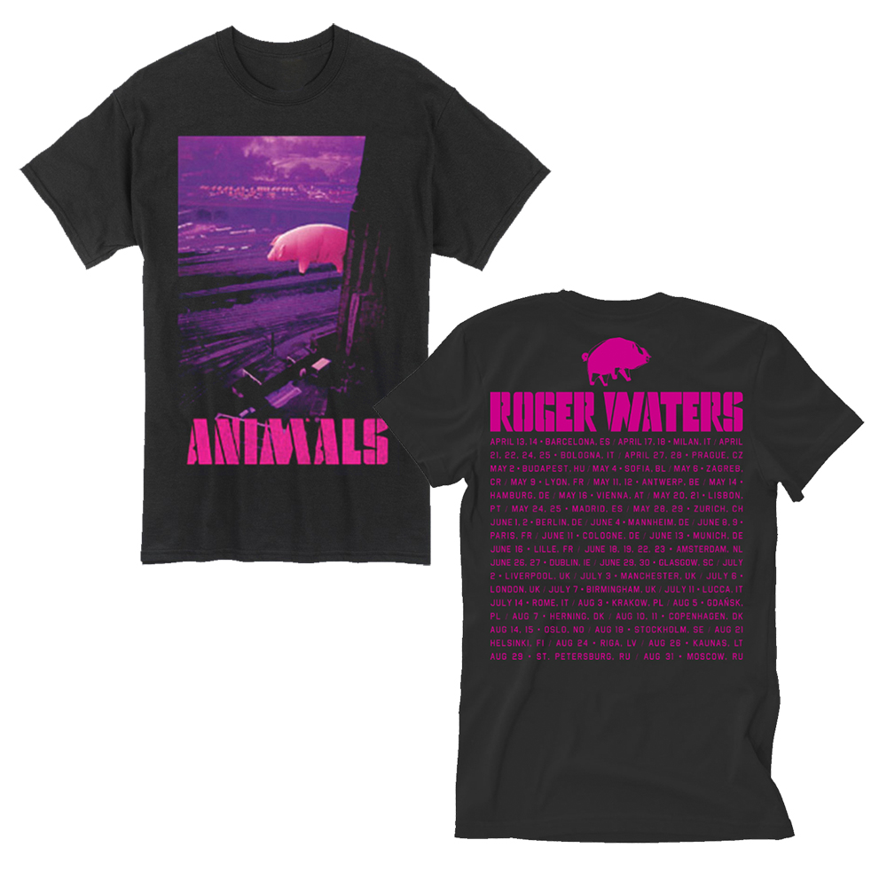 Roger Waters - Animals  T-Shirt With Itinerary