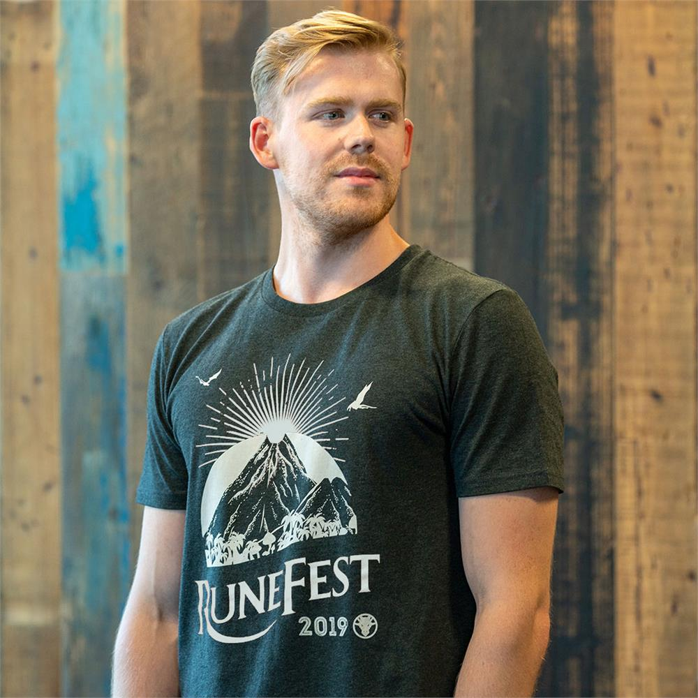 RuneScape - RuneFest 2019 Single Colour Tee (Dark Grey)