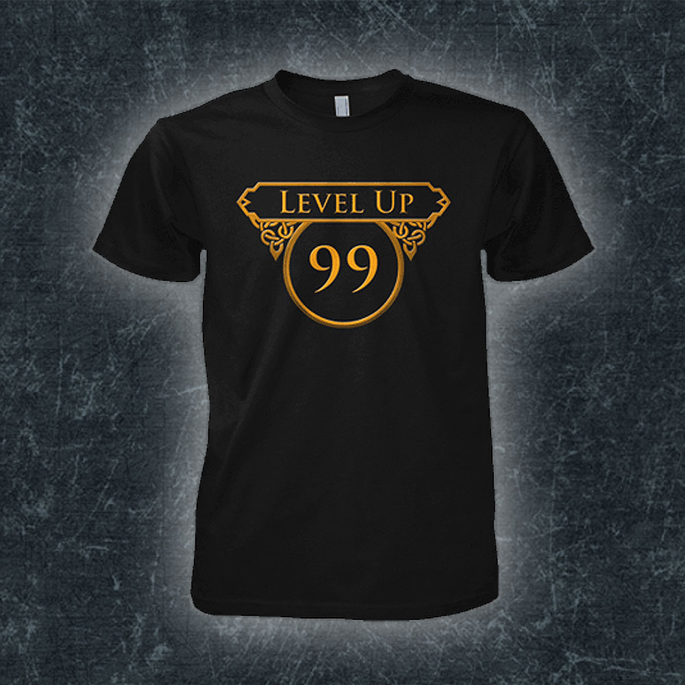 Runescape Level Up 99 Black Runescape T Shirt