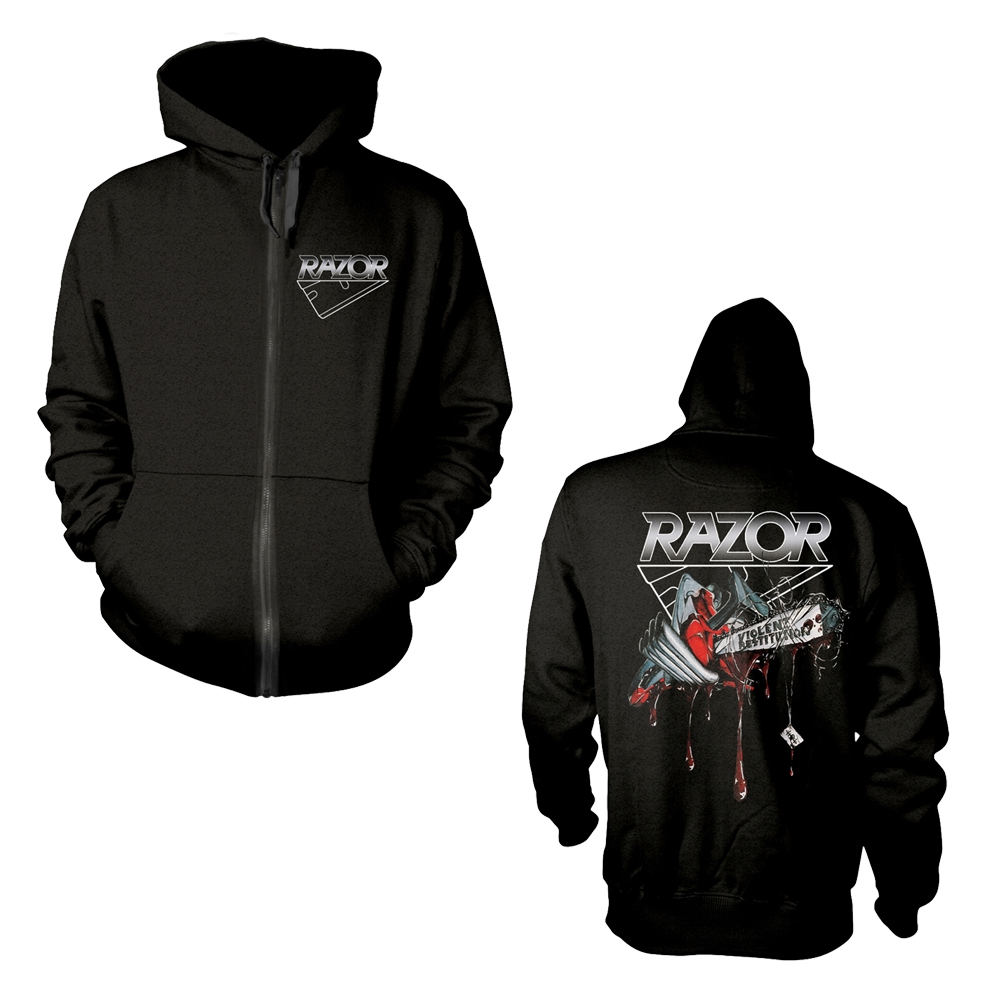 Razor - Violent Restitution (Zip Hoodie)