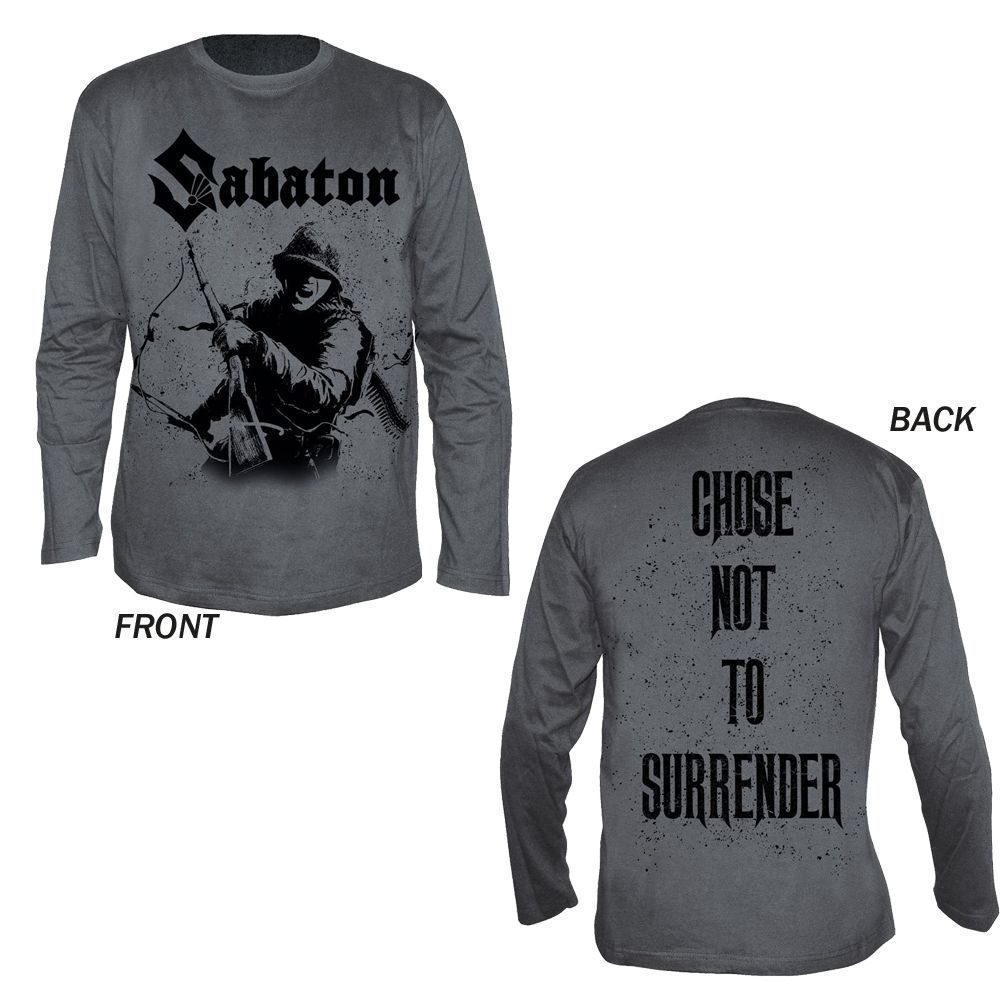 Sabaton - Chose Not To Surrender (Grey Longsleeve)