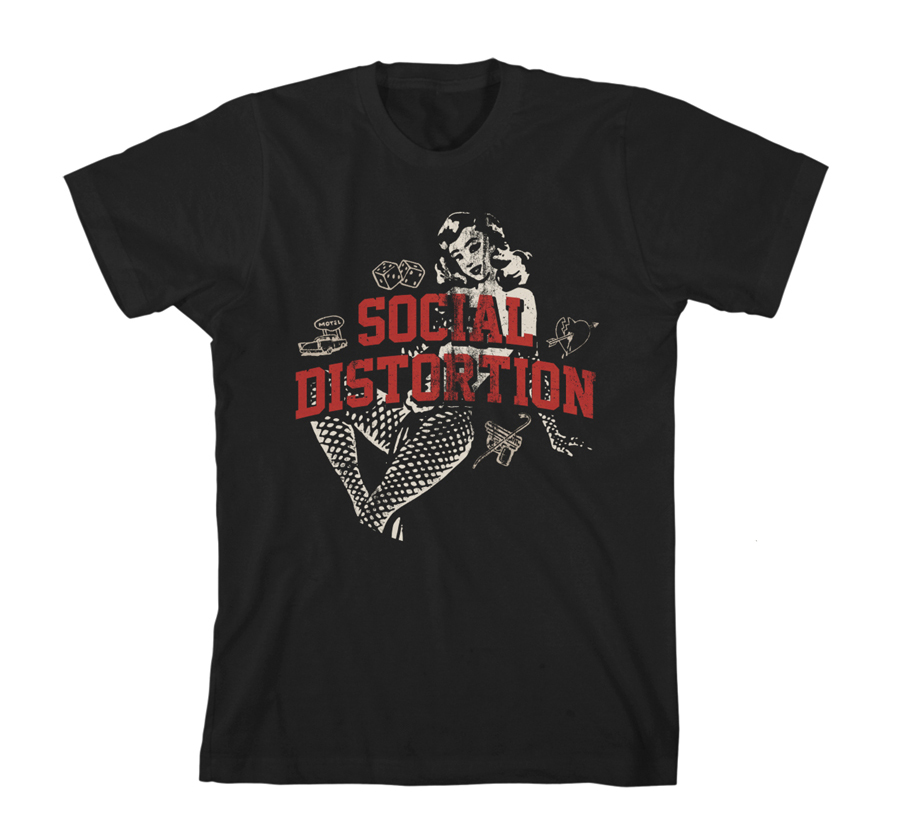 Social Distortion - White Light Icons (Black)