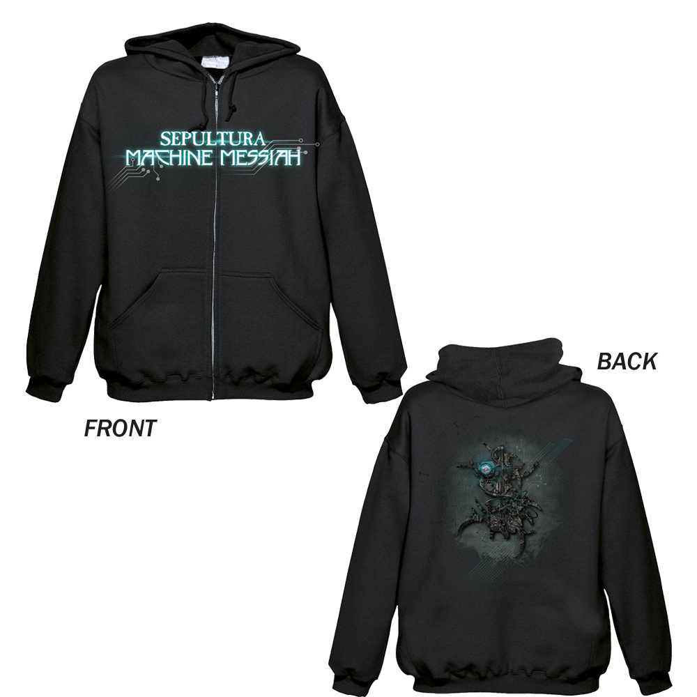 Sepultura - Machine Messiah (Zipped Hoodie)