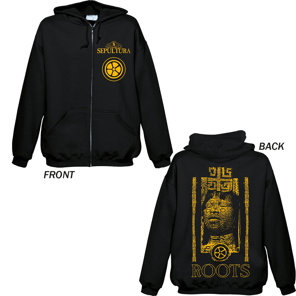 Sepultura - Roots (Black Zipped Hoodie)
