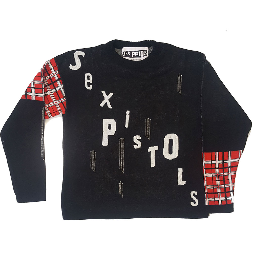 Sex Pistols - Distressed Tartan Logo