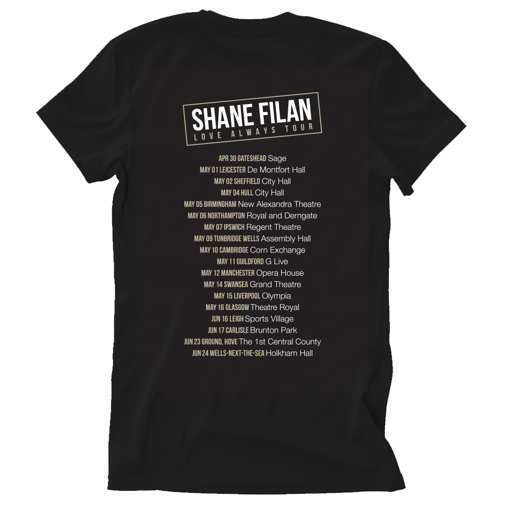 Shane Filan - Love Always 2018 Date Back (Black)