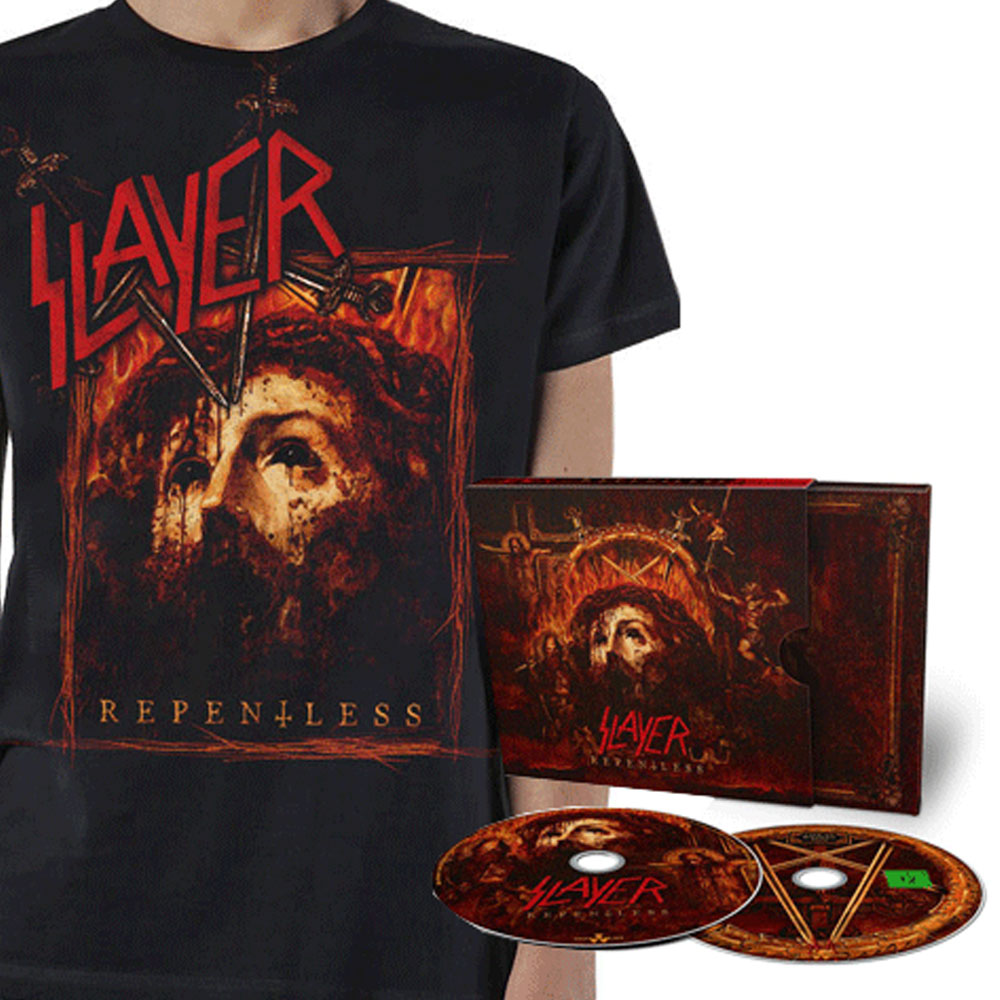 Slayer - Repentless CD/DVD Deluxe and T-Shirt Bundle