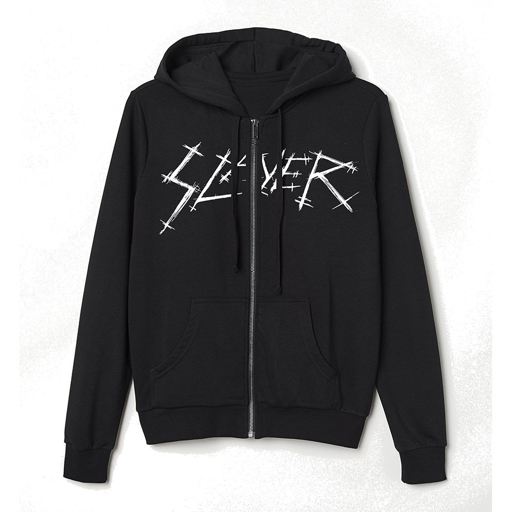 Slayer - Skull Crossed (Zip Hoodie)