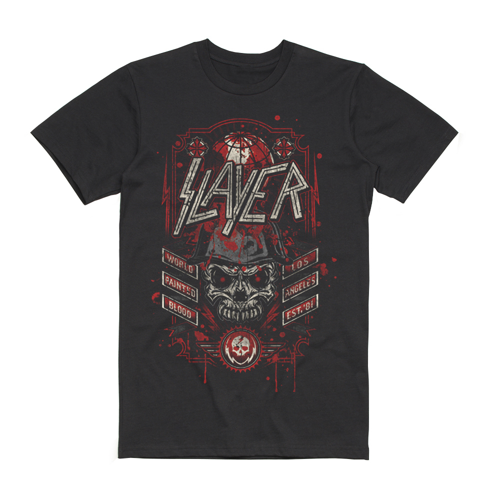 Slayer - World Painted Blood  Est 81 T-Shirt