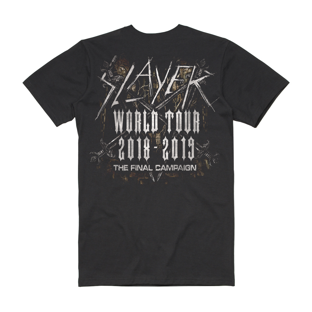 Slayer - Spiky Thorned Final Campaign Tee