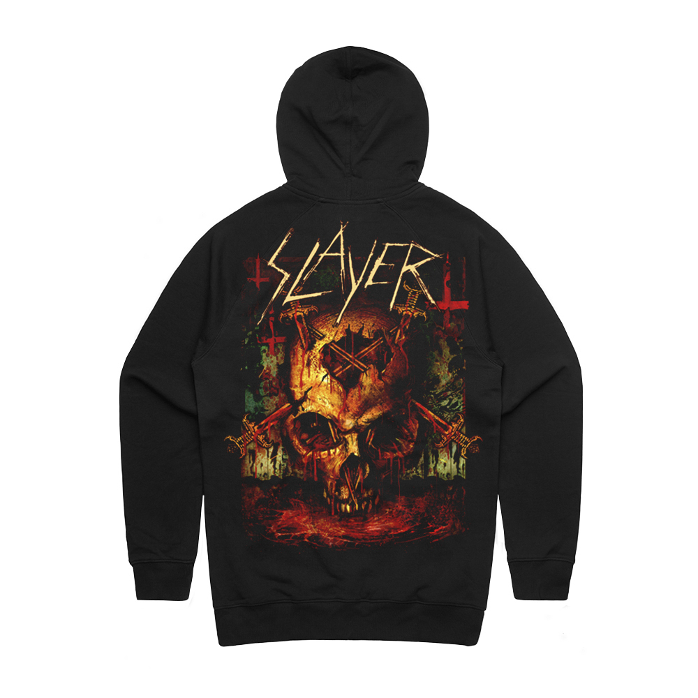 Slayer - Bloody Vortex  (Zip Up Hoodie)