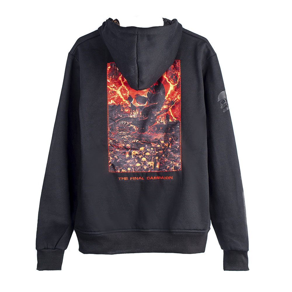 Slayer - Battlefield Cut and Sew (Zip Hoodie)