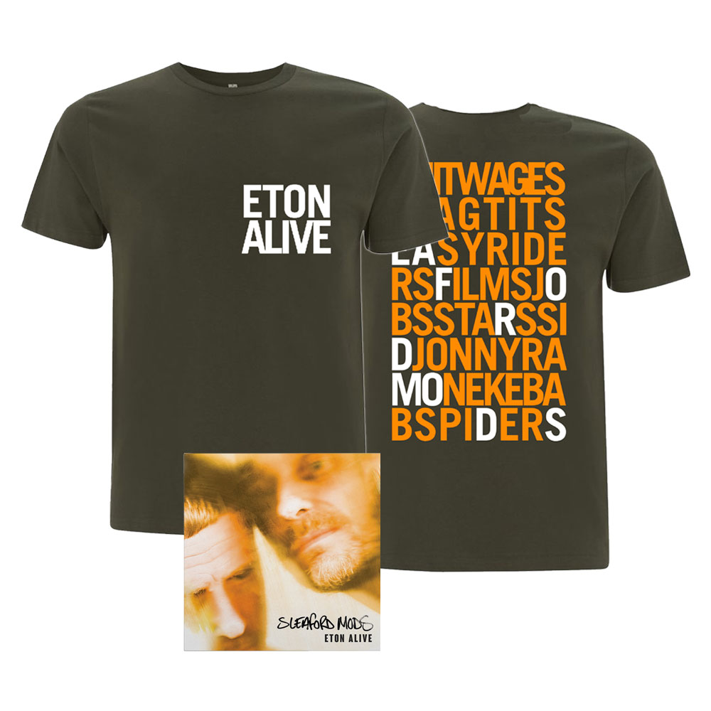 Sleaford Mods - Eton Alive (Download Code + T-Shirt Bundle)