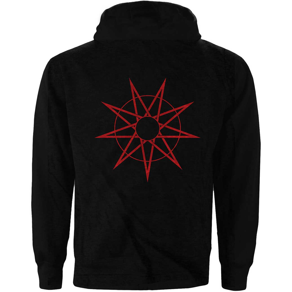 Slipknot - 9 Point Star (Back Print) (Zip Hoodie)