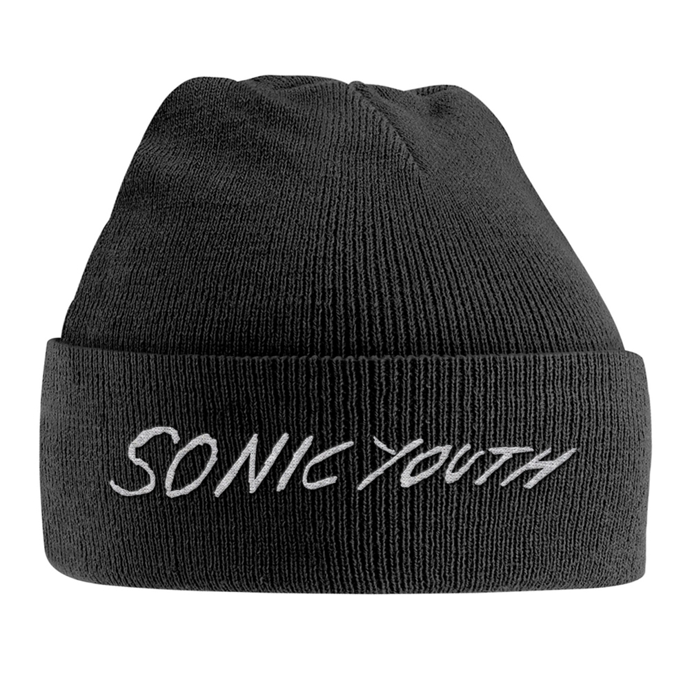 Sonic Youth - White Logo (Embroidered Ski Hat)