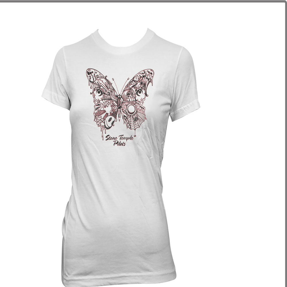 Stone Temple Pilots - Webbed Butterfly (Women's) (White)