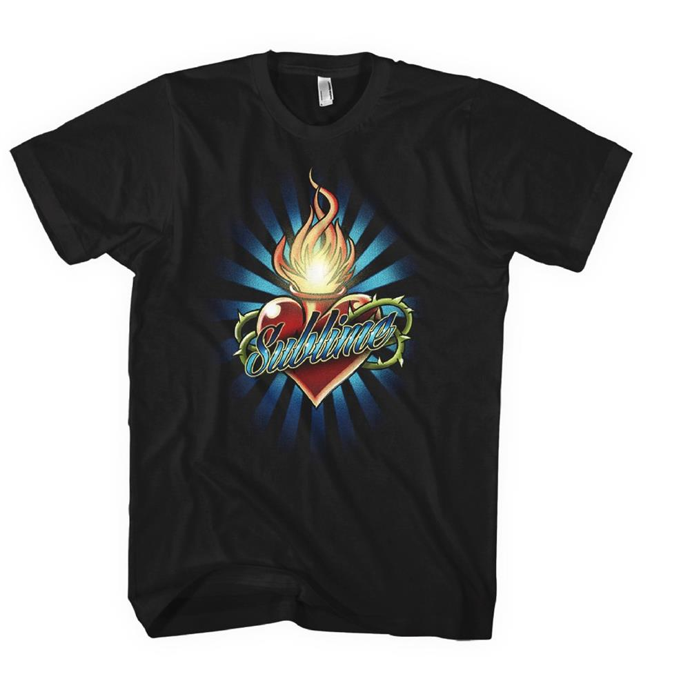 Sublime - Torched Heart Logo Boyfriend (Black)