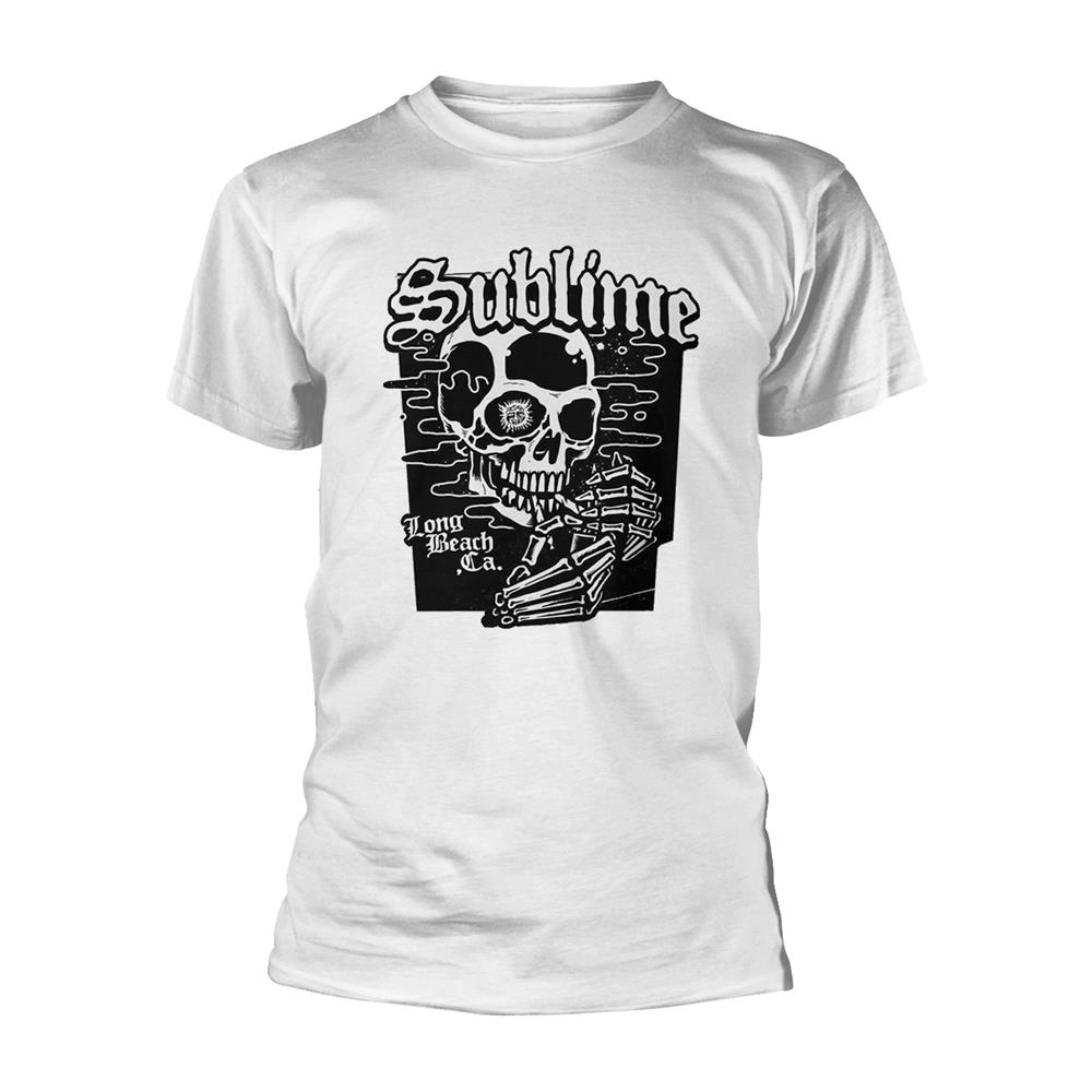Sublime - Black Skull (White)