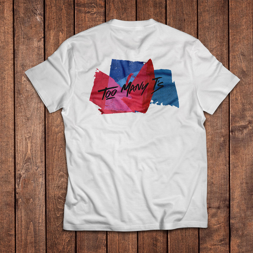 Too Many T's - TMT LA FAM ILL T-Shirt Brush Strokes (Front & Back Print)