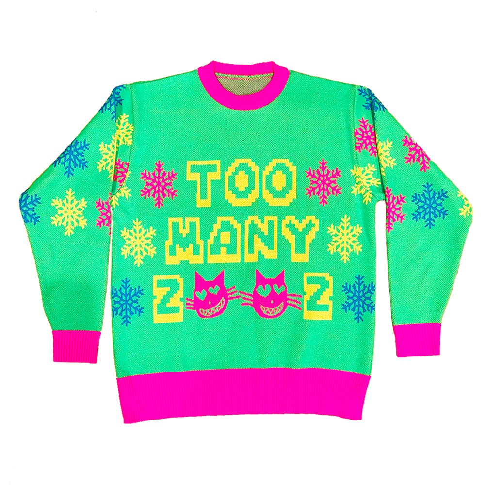Too Many Zooz - Cats Xmas Jumper