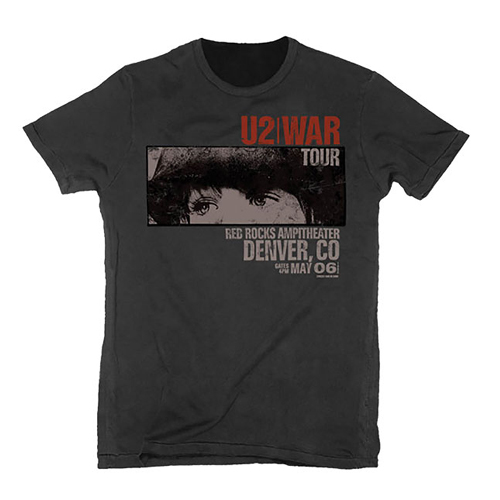 U2 - War Red Rocks (Vintage Black)