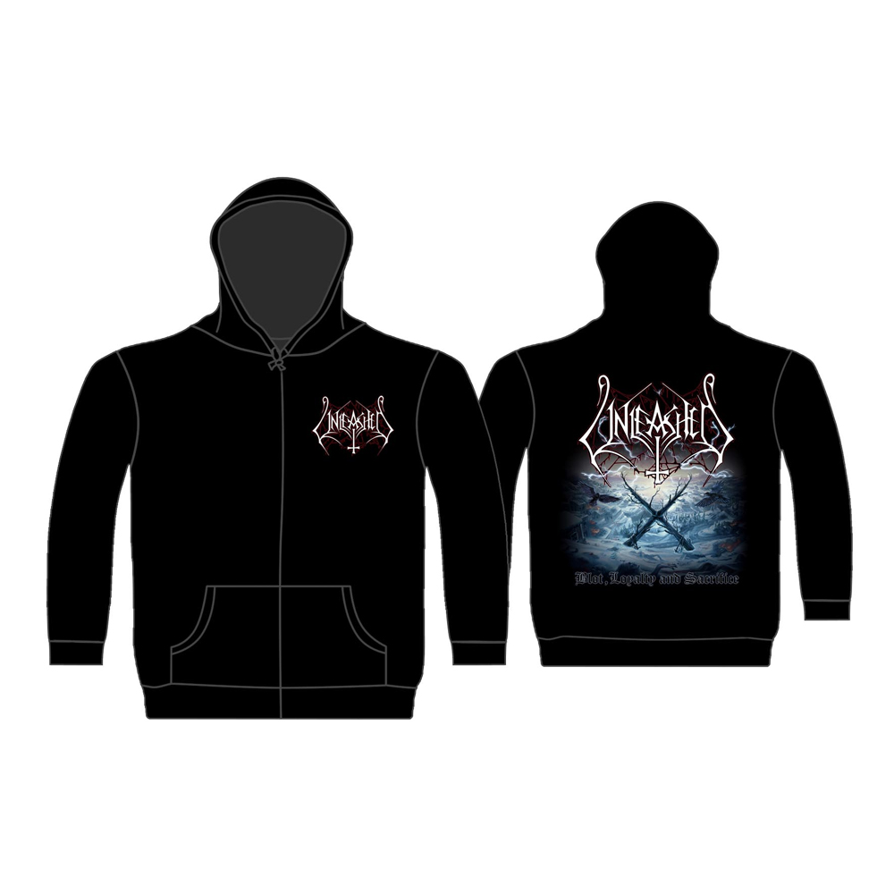 Unleashed - Blot, Loyalty And Sacrifice (Zip Hoodie)