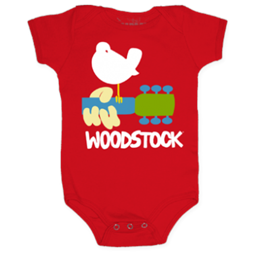 Woodstock - Dove & Guitar (Red)