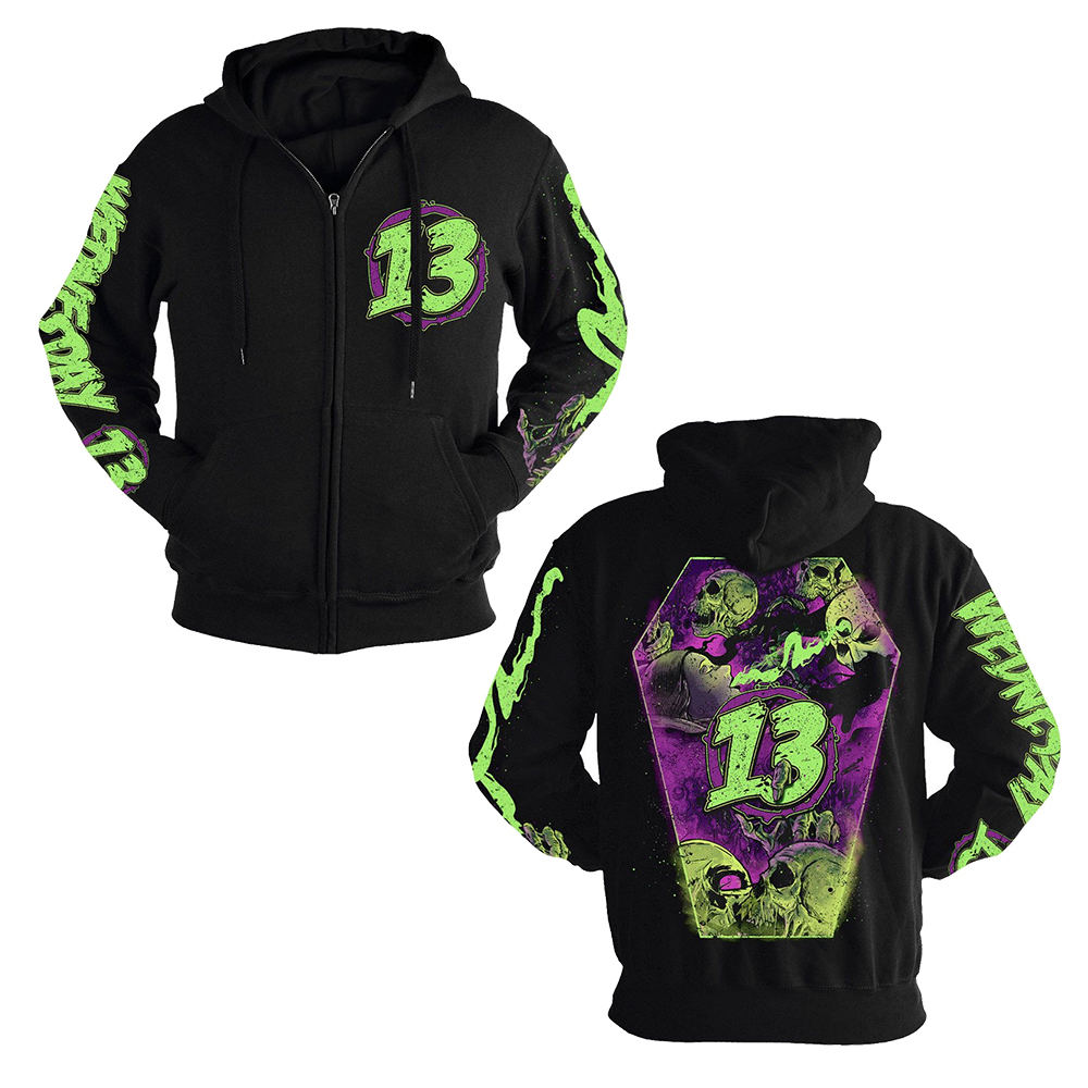 Wednesday 13 - Coffin (Zip Hoodie)