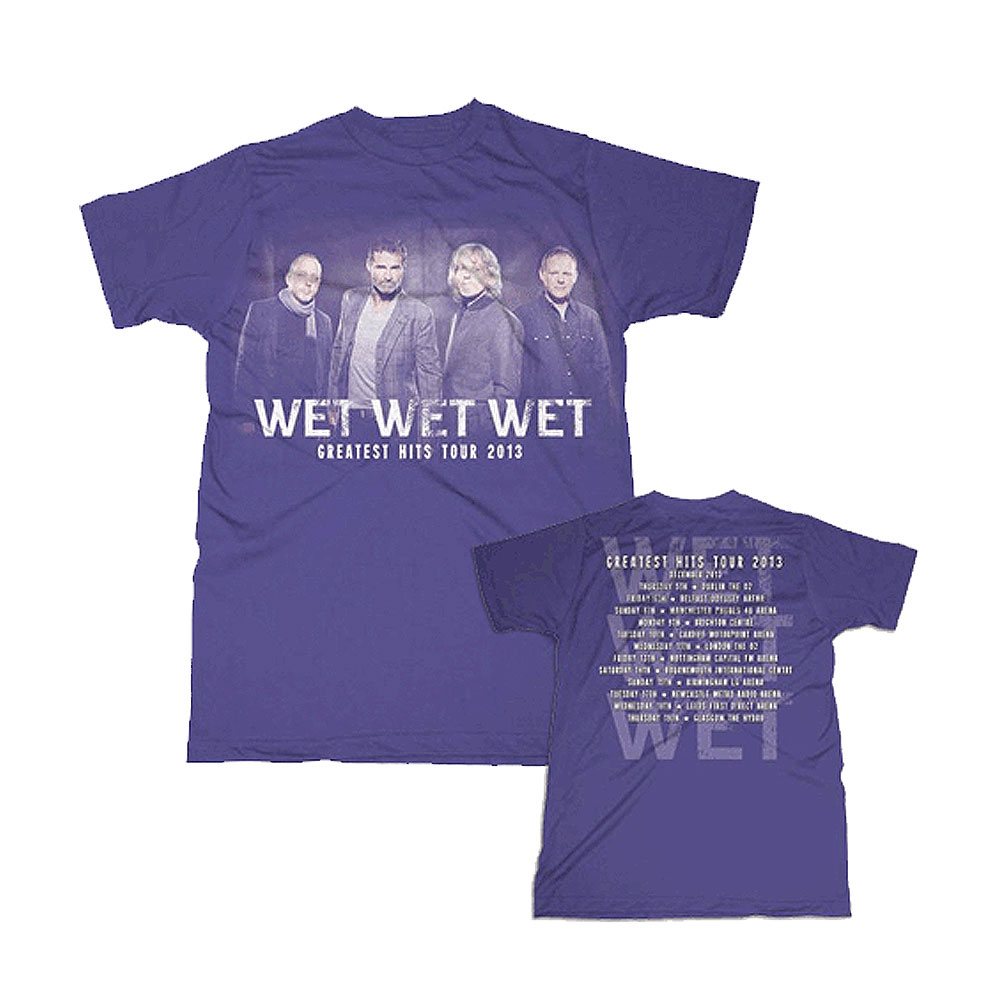 Wet Wet Wet - (Photo Greatest Hits 2013) Purple T-Shirt