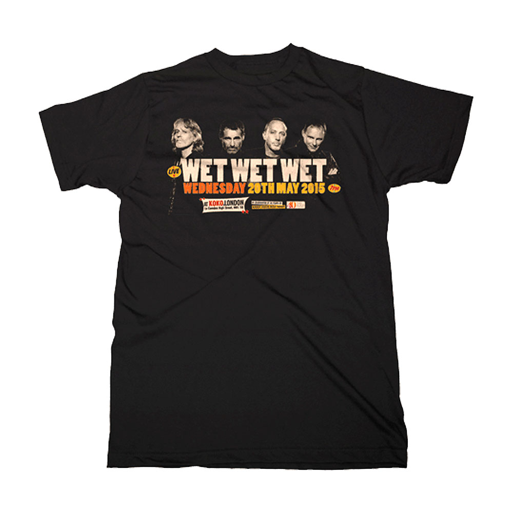 Wet Wet Wet - (Koko Event 2015) Black T-Shirt