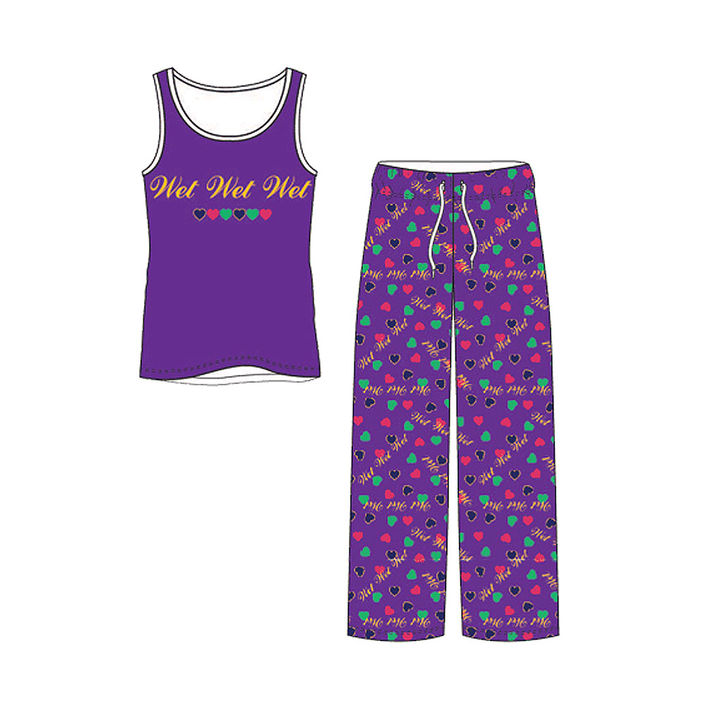 Wet Wet Wet - 2016 Vest & Lounge Pants Set (Purple)