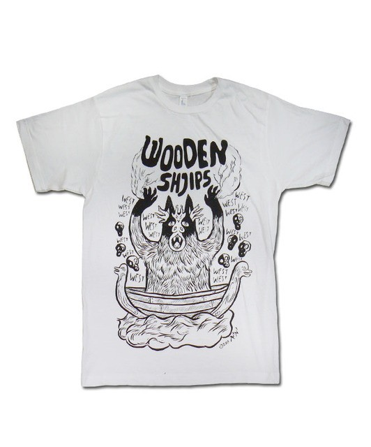 Wooden Shjips - Black Print Monster (White)