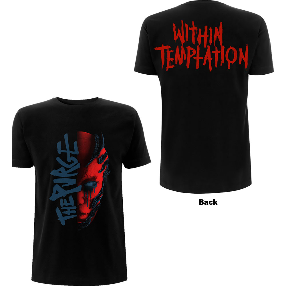 Within Temptation - Purge Outline (Red Face) (Back Print)