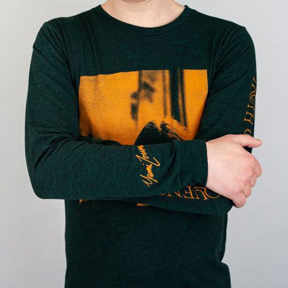 Yumi Zouma - 'Truth or Consequences' Dark Green Long Sleeve Tee