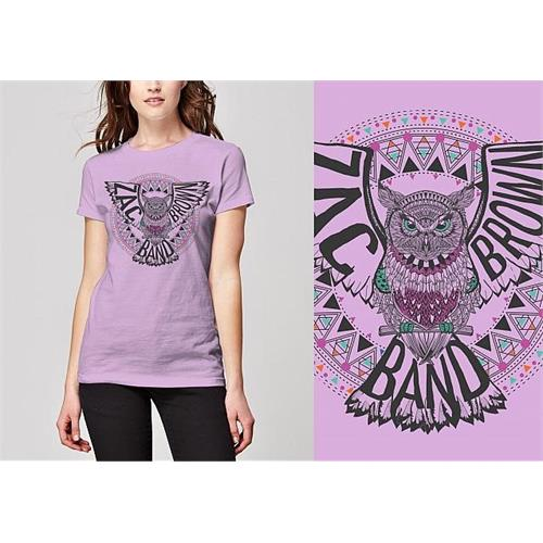 Zac Brown - Owl (Women's) (Lilac)