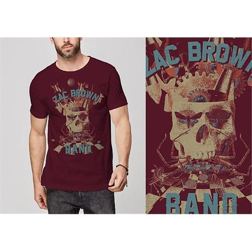 Zac Brown - Skull Collage (Cardinal)