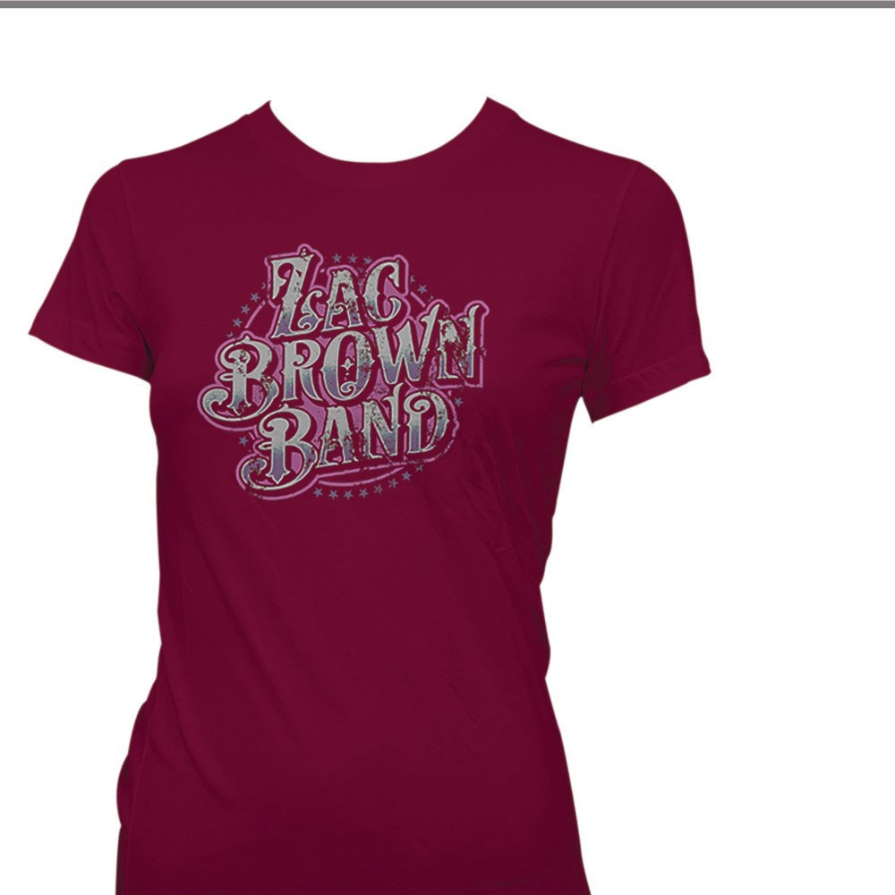 Zac Brown - Logo (Women's) (Red Mulberry)