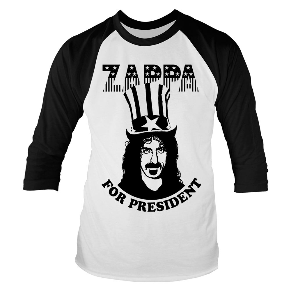 Frank Zappa - Zappa For President (Baseball Shirt)