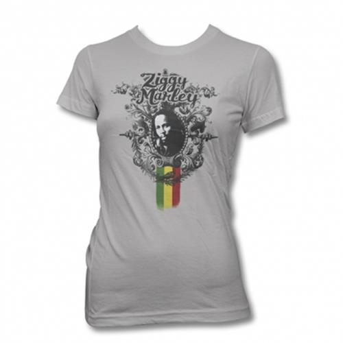 Ziggy Marley - Peaceful Tee (Grey)