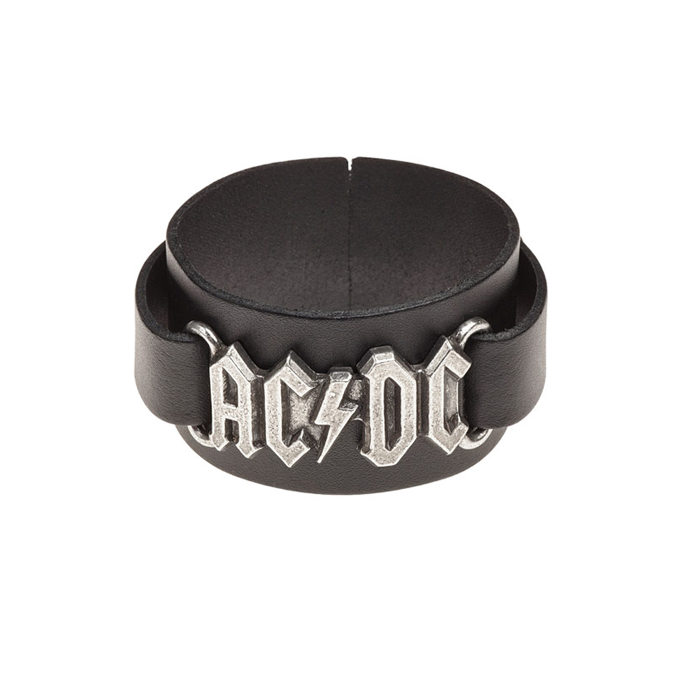 AC/DC - Logo Leather Wrist Strap