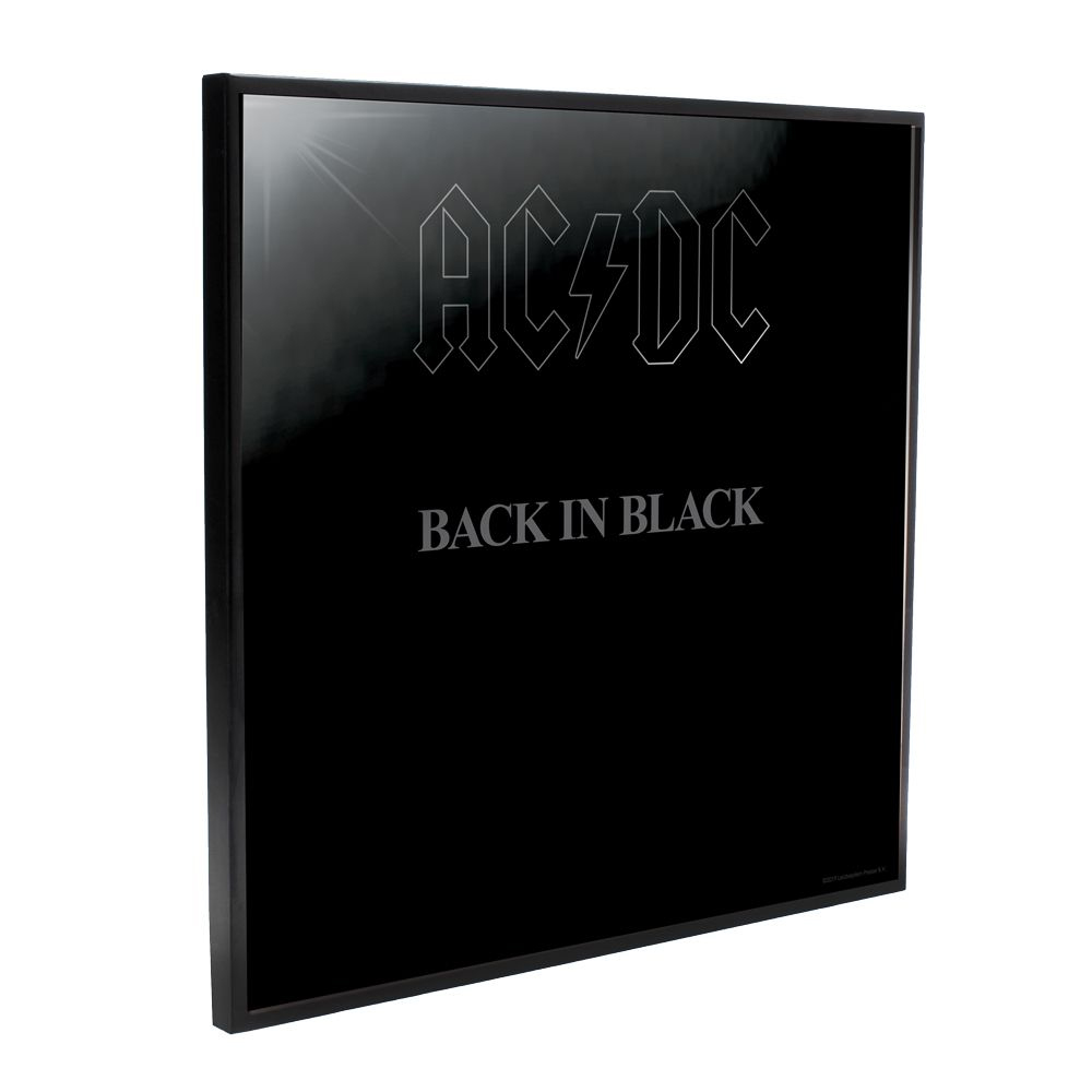 AC/DC - Back In Black Album Cover (Crystal Clear Wall Art)