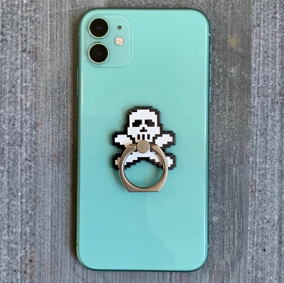 Angels Scapes - PK Skull Mobile Phone Ring