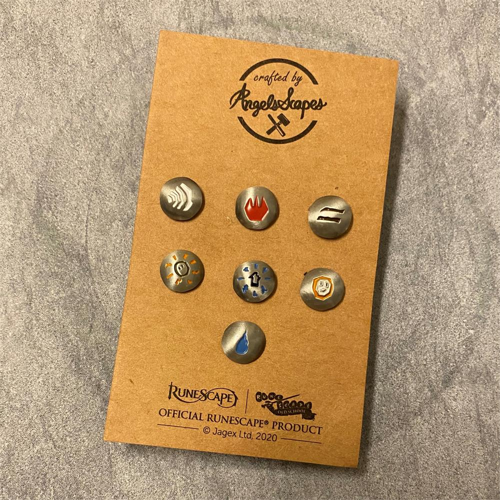 Angels Scapes - Mini Rune Pin Set 1