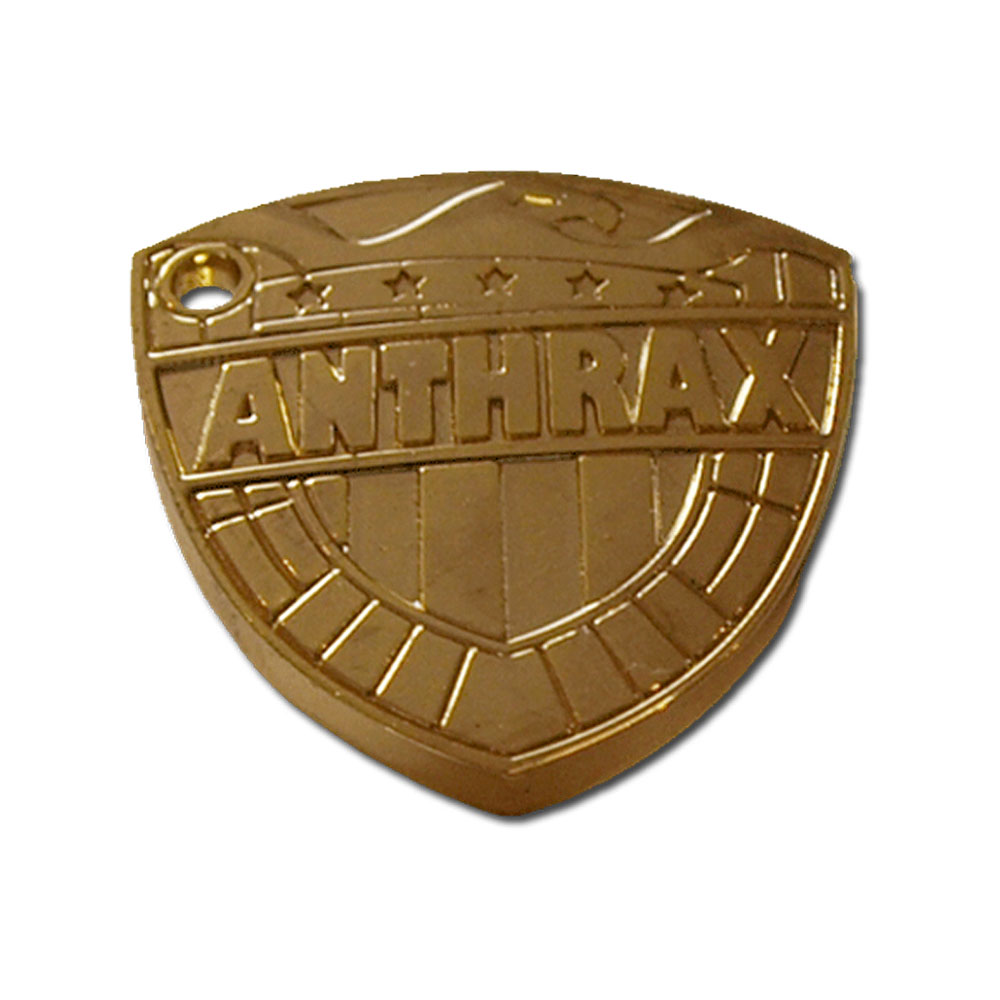 Anthrax - Dredd Shield Pin Badge