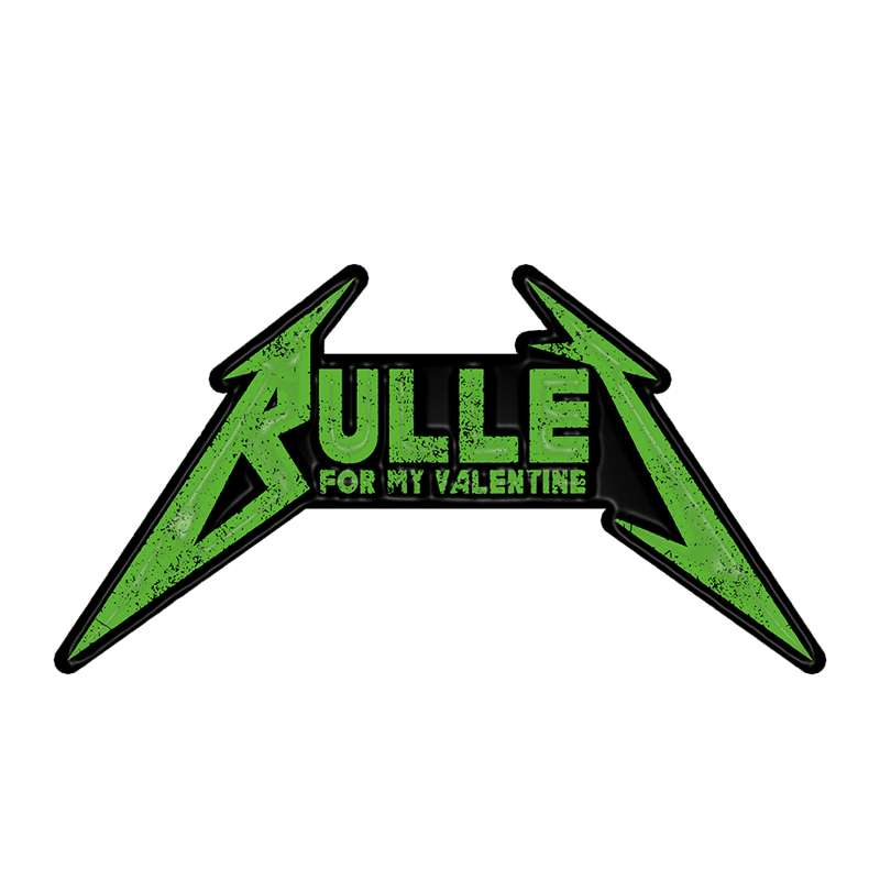 Bullet For My Valentine - Green Logo Enamel Pin Badge