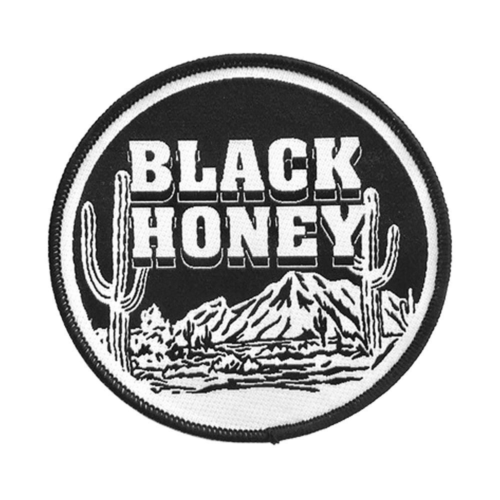 Black Honey - Black Cactus Woven Patch