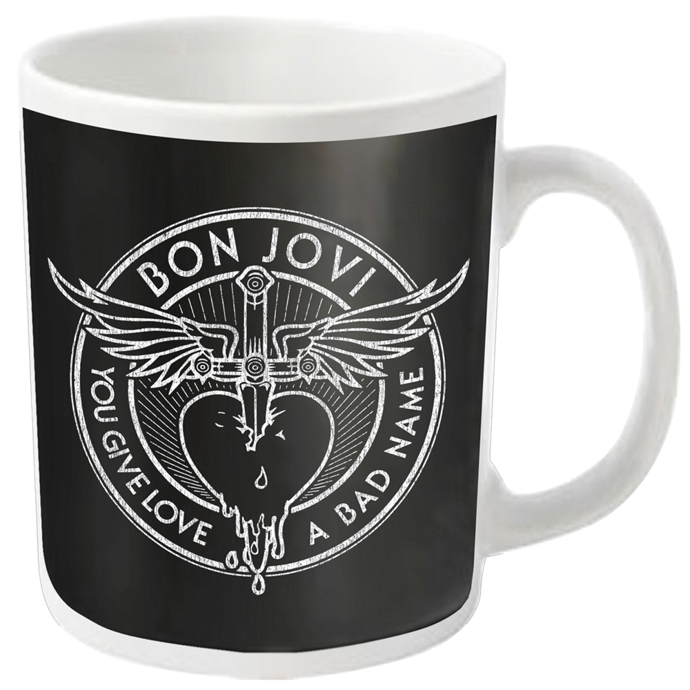 Bon Jovi - Bad Name (White Mug)
