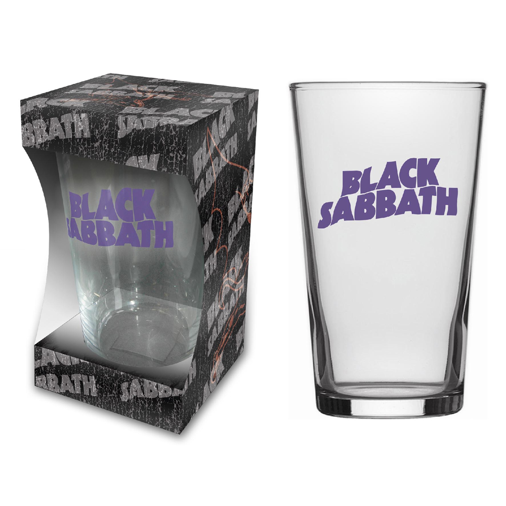 Black Sabbath - Purple Logo (Beer Glass)