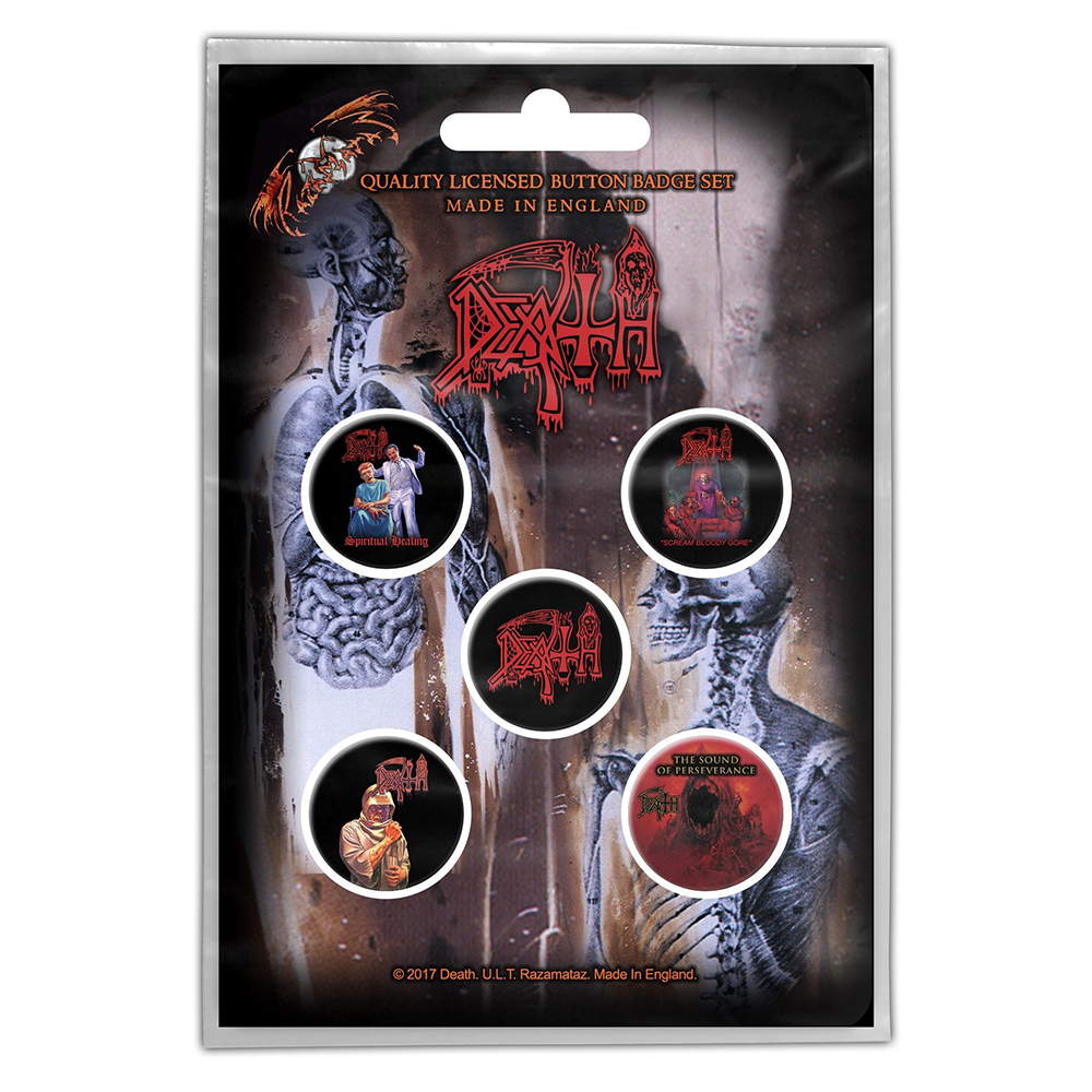 Death - Death Albums Button Badge Packs