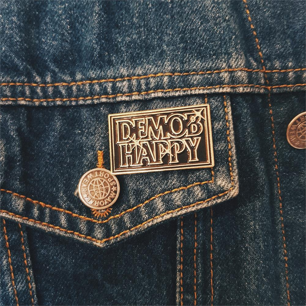 Demob Happy - Logo Star Pin Badge